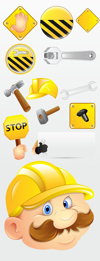 Construction Icons Vectors