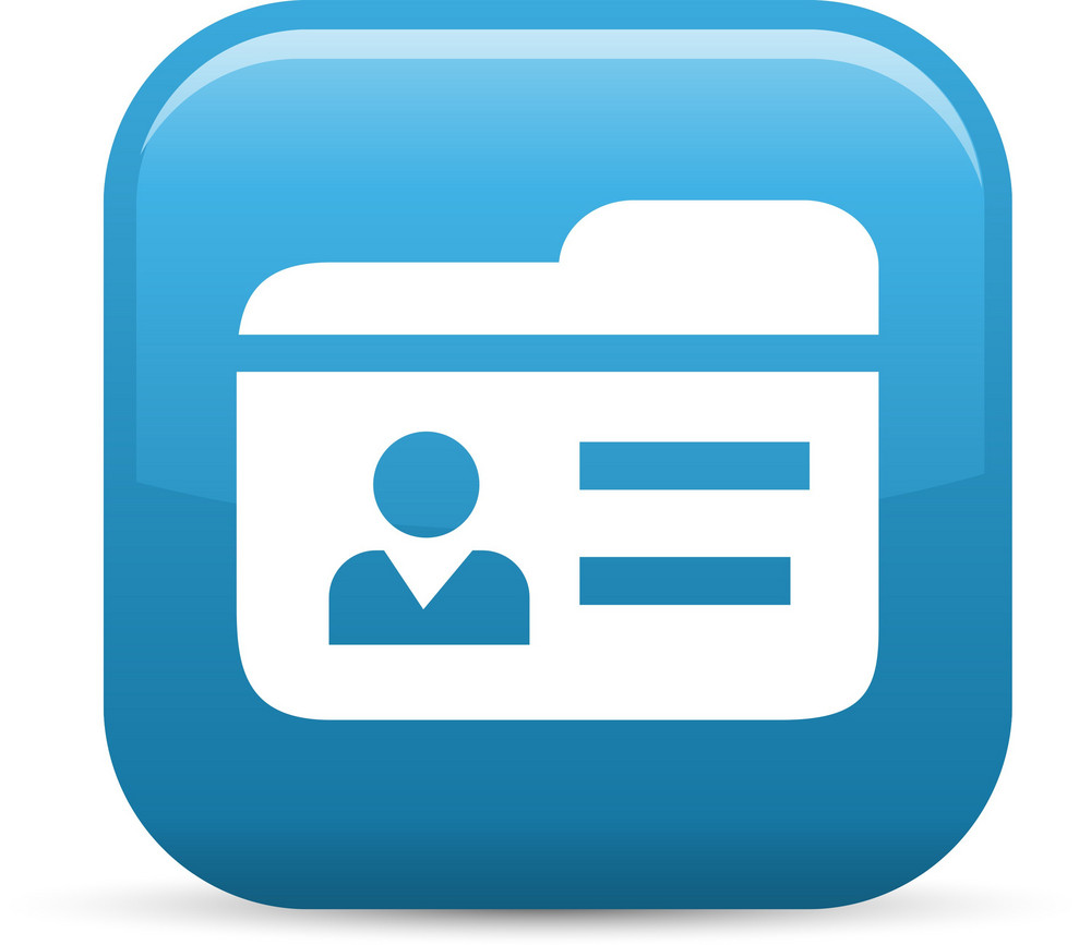 Contacts Elements Glossy Icon