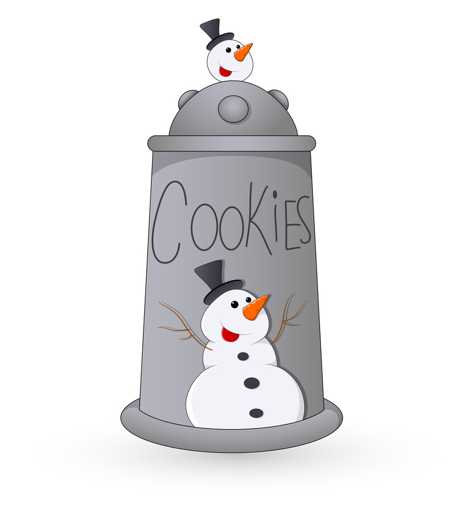Cookie Jar - Christmas Vector Illustration