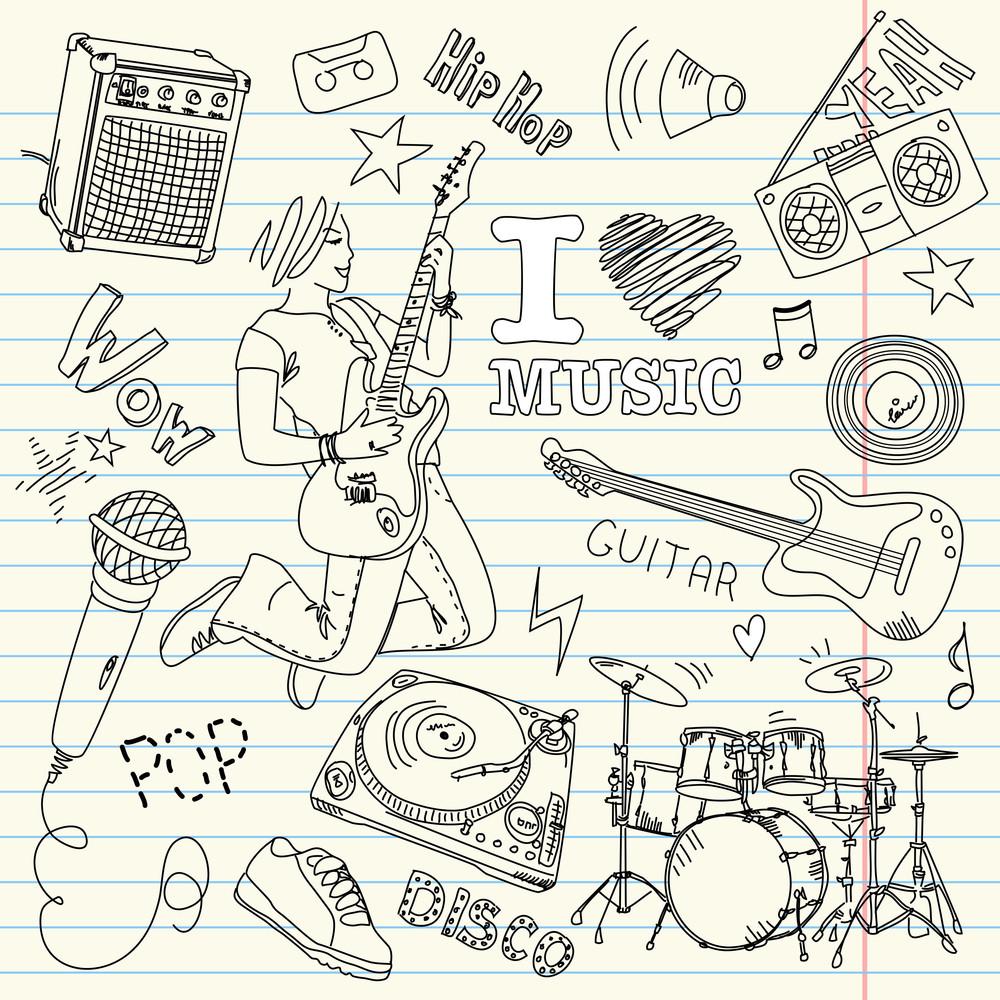 Cool Music Doodles