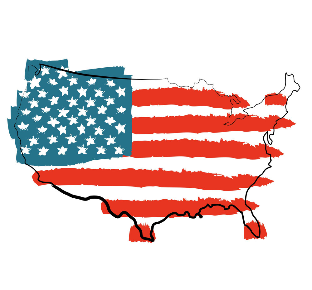 Cool Usa Map With Us Flag RoyaltyFree Stock Image Storyblocks - Us flag map
