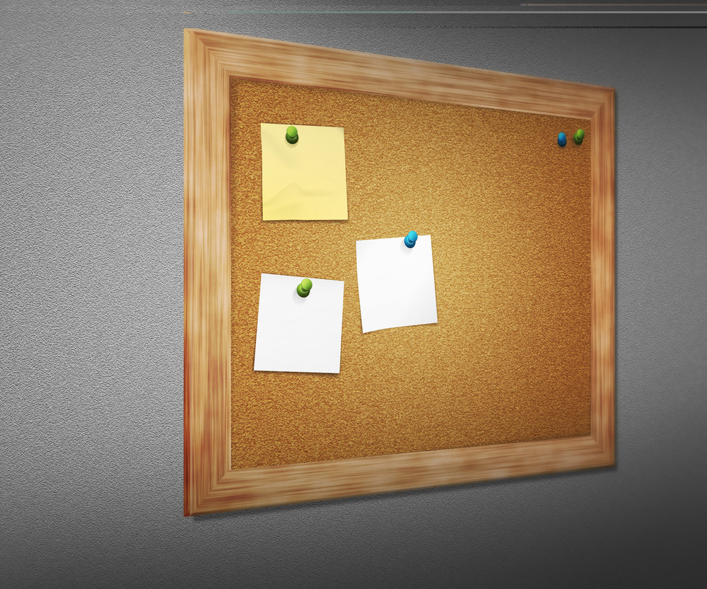 Cork Board On Wall