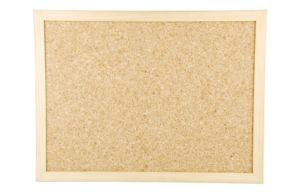 Cork Board On White