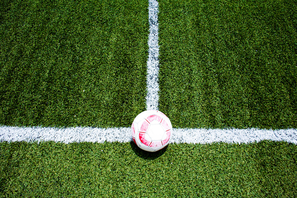 Corner football texture and background