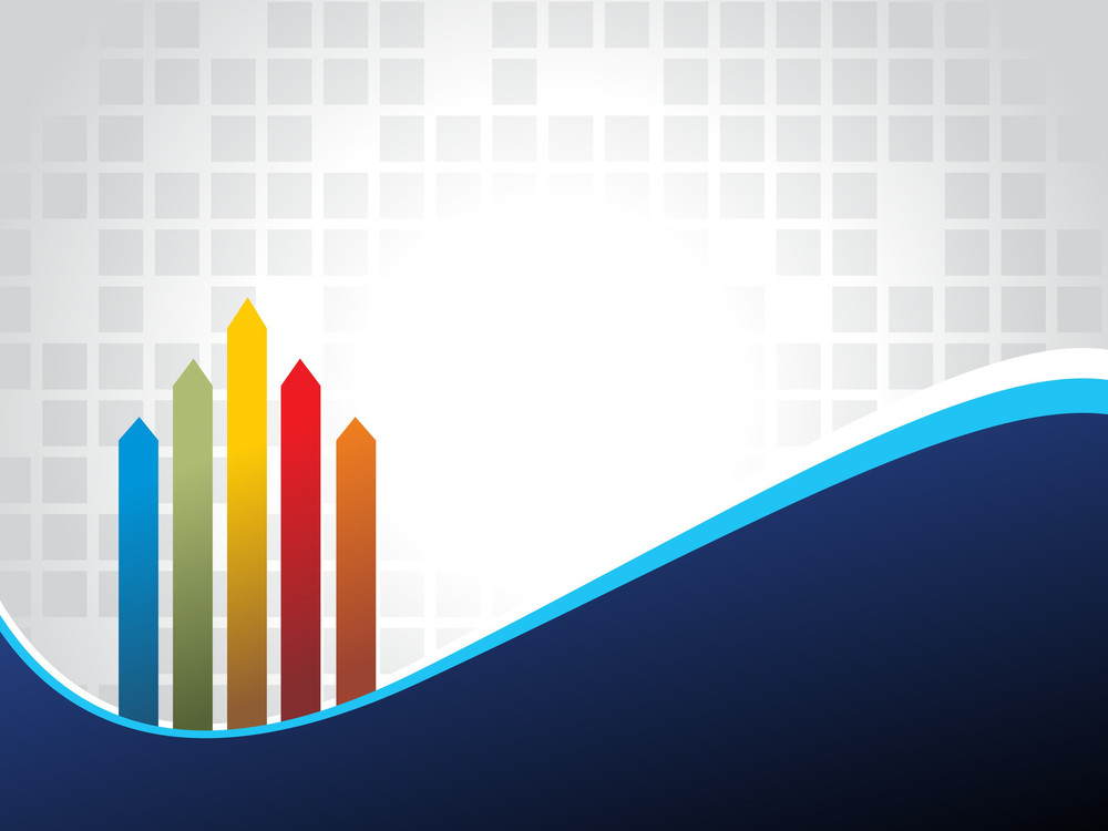 Corporate Background With Colorful Arrow