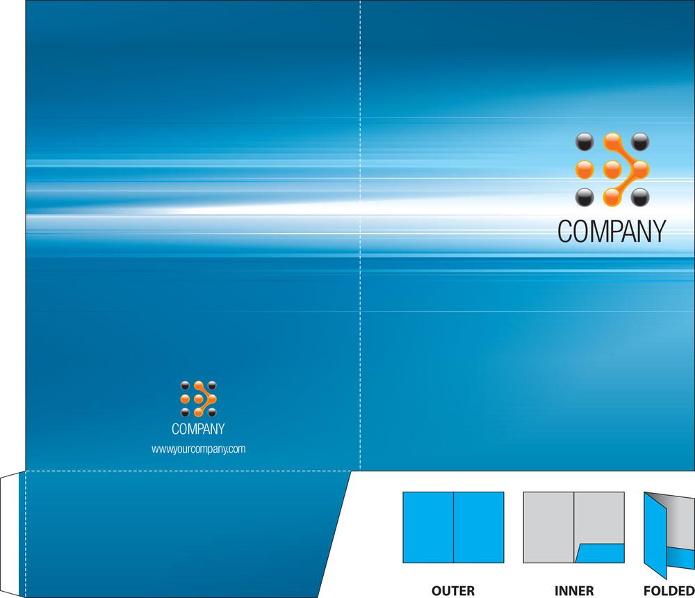 Corporate Folder With Die-cut.