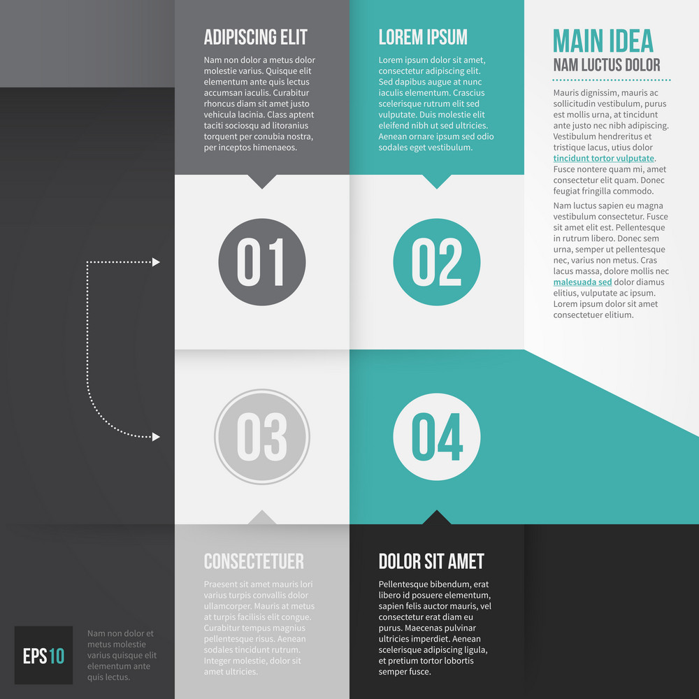 Modern Corporate Layout With 4 Options. Eps10.