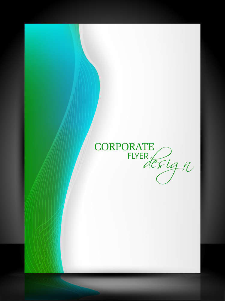 Corporate Modern Colorful And Transperent Flyer Design With Waves. Eps10
