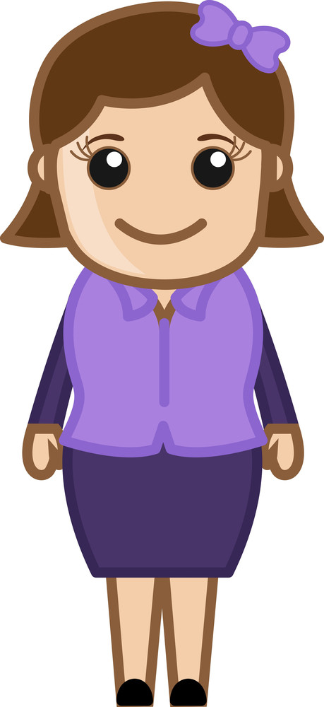 Corporate Woman - Business Cartoon Character Vector