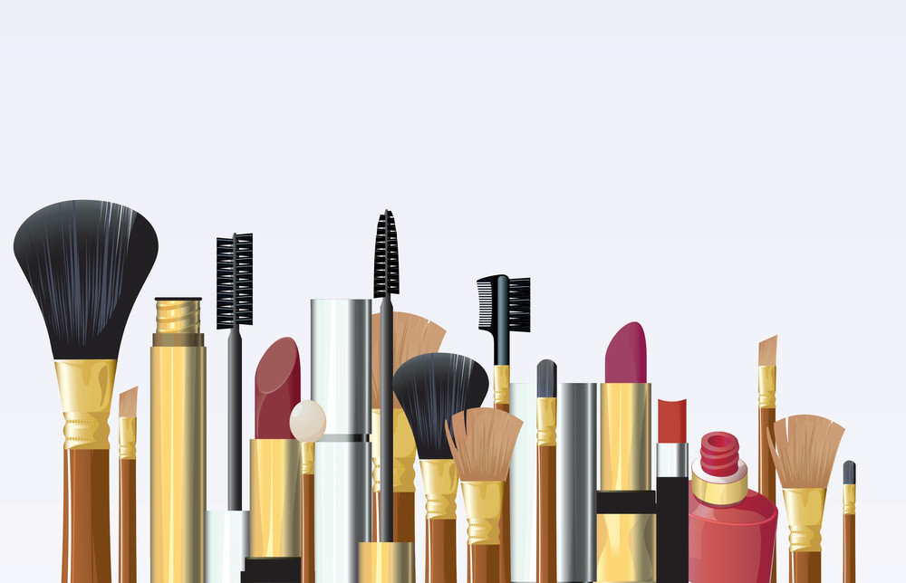 Cosmetic Tools. Vector.