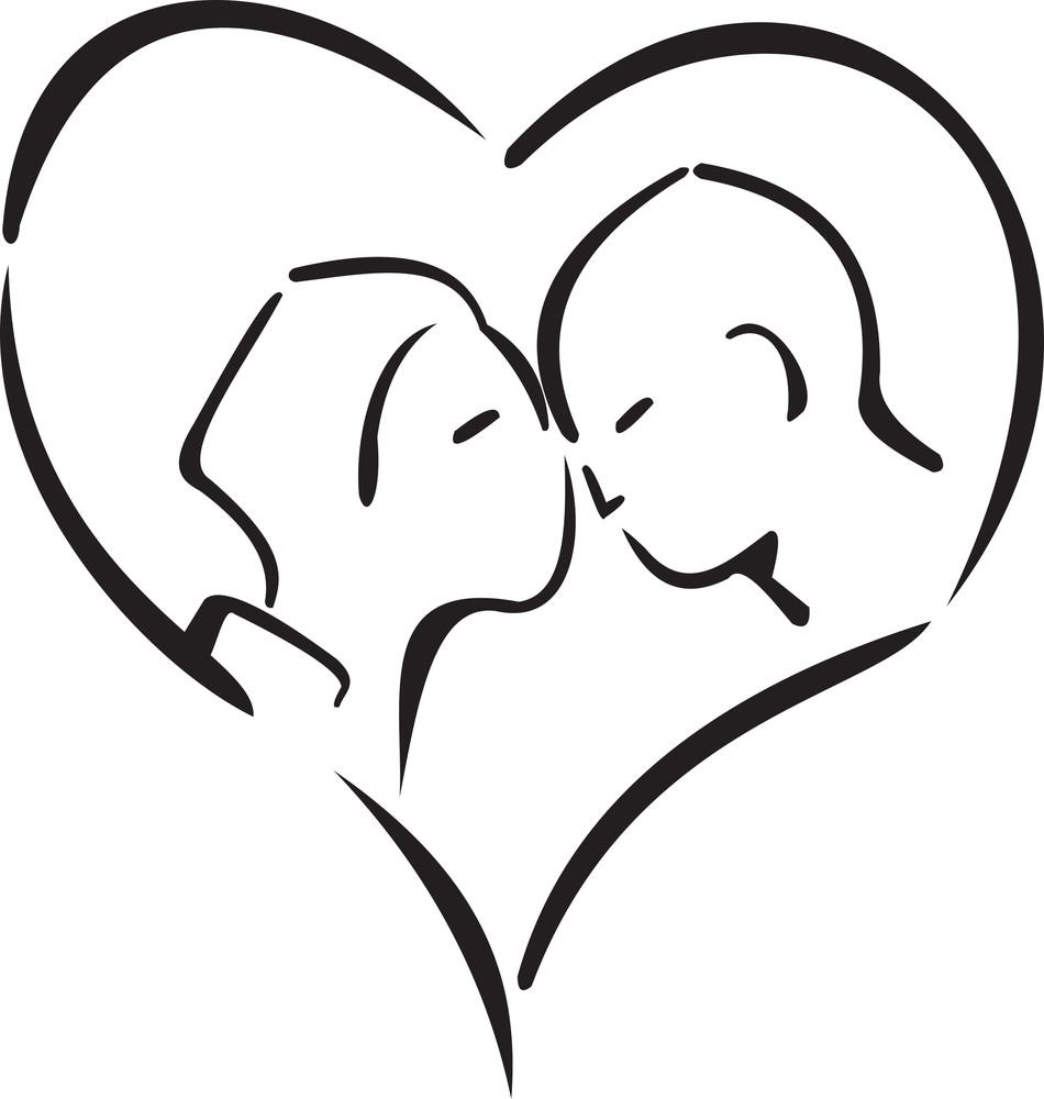 Couple In Heart Shape.