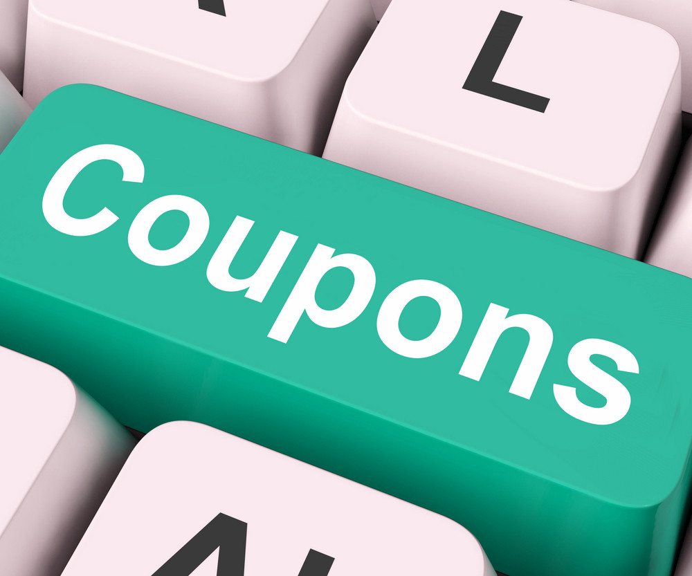 Coupons Key Means Voucher Or Slip