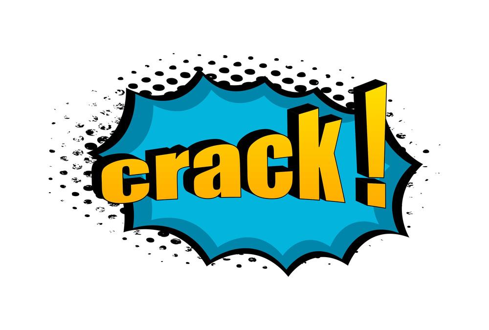 Crack Retro Graphic Text