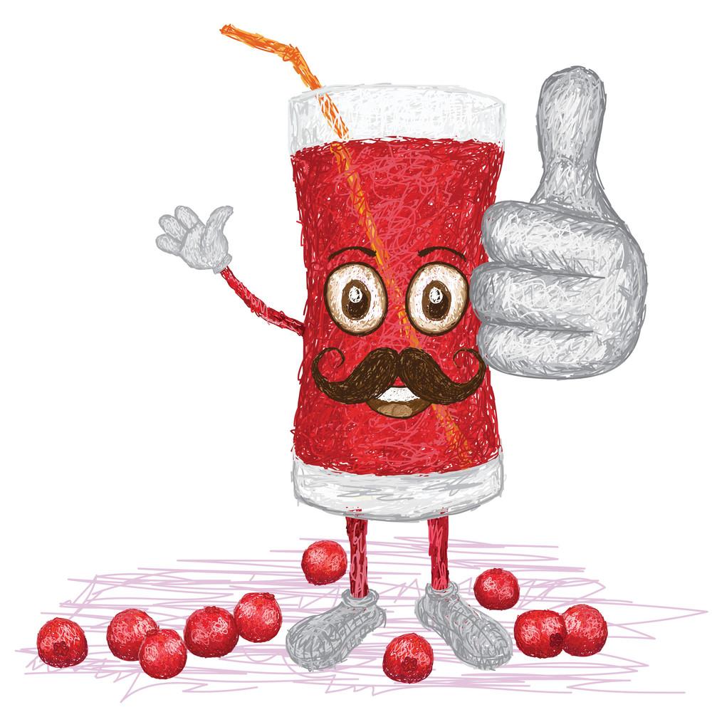Cranberry Fruit Juice Mustache