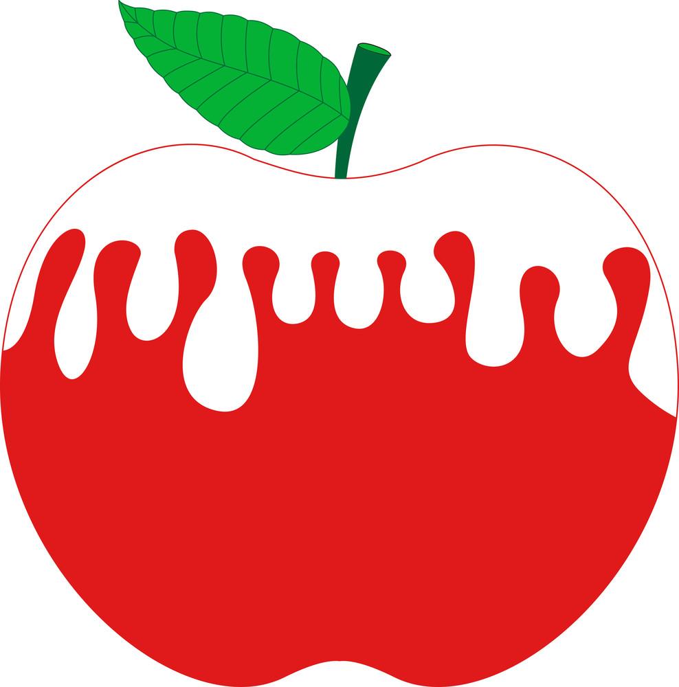Cream Over Apple