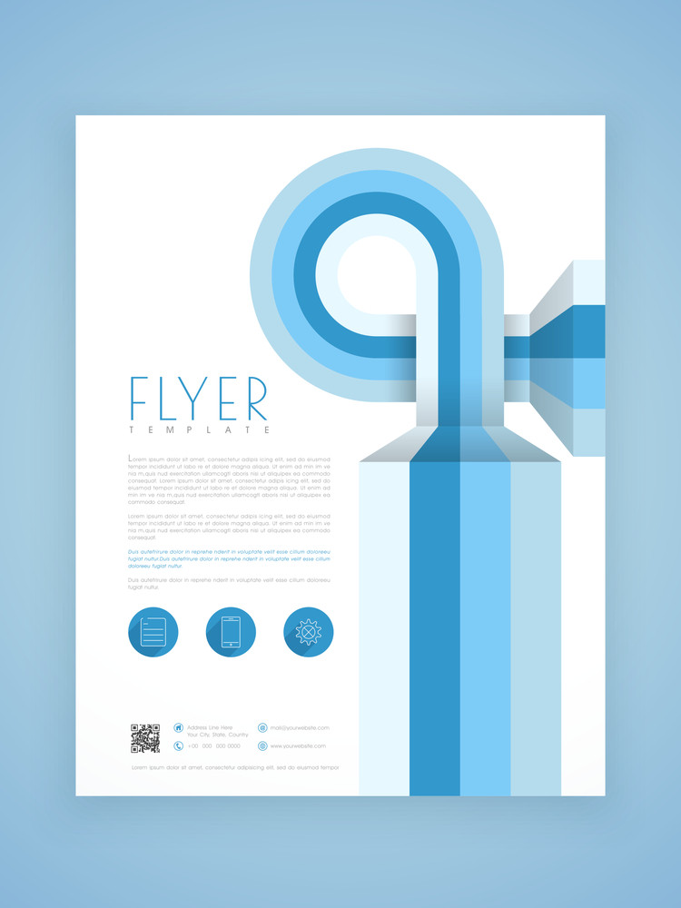 Creative Abstract Business Flyer Template Or Brochure Design For