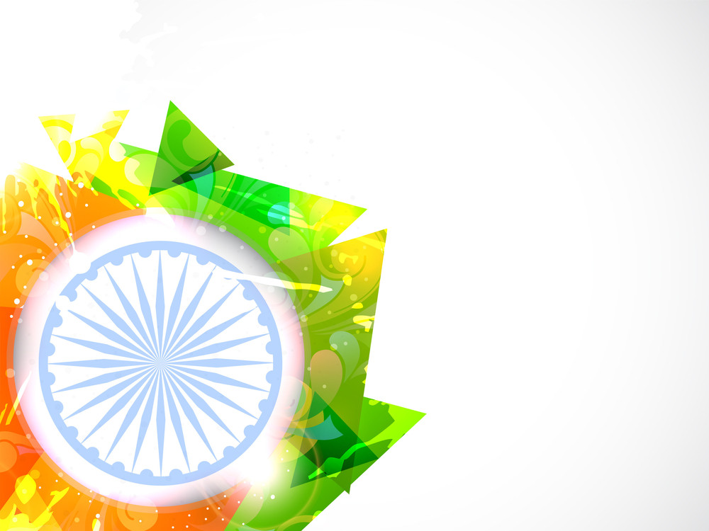 Creative Abstract Grunge Style Background For Independence Day And Republic Day.