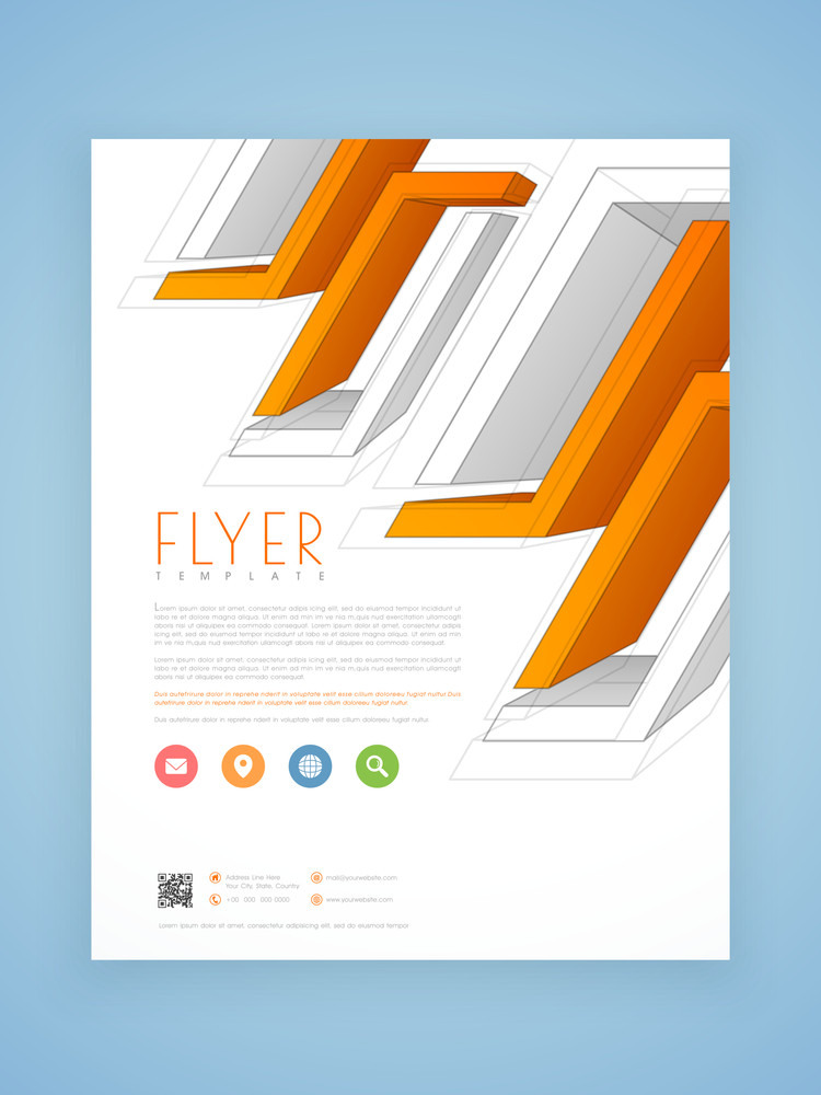 creative abstract professional flyer template or brochure design for