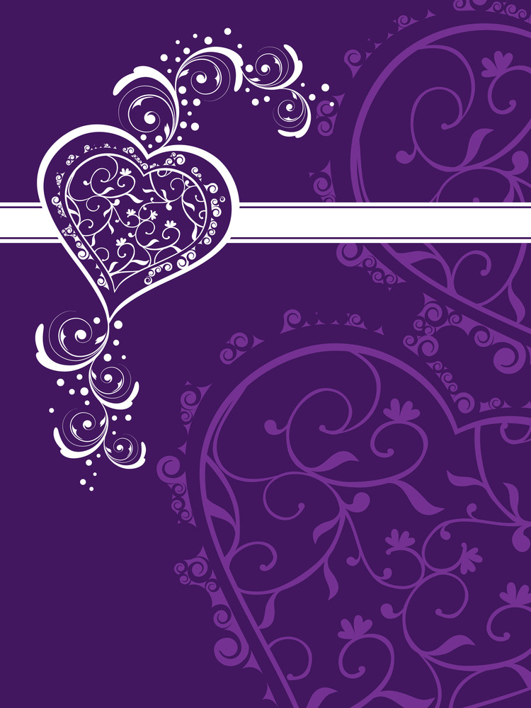 Creative Background With Decorated Heart