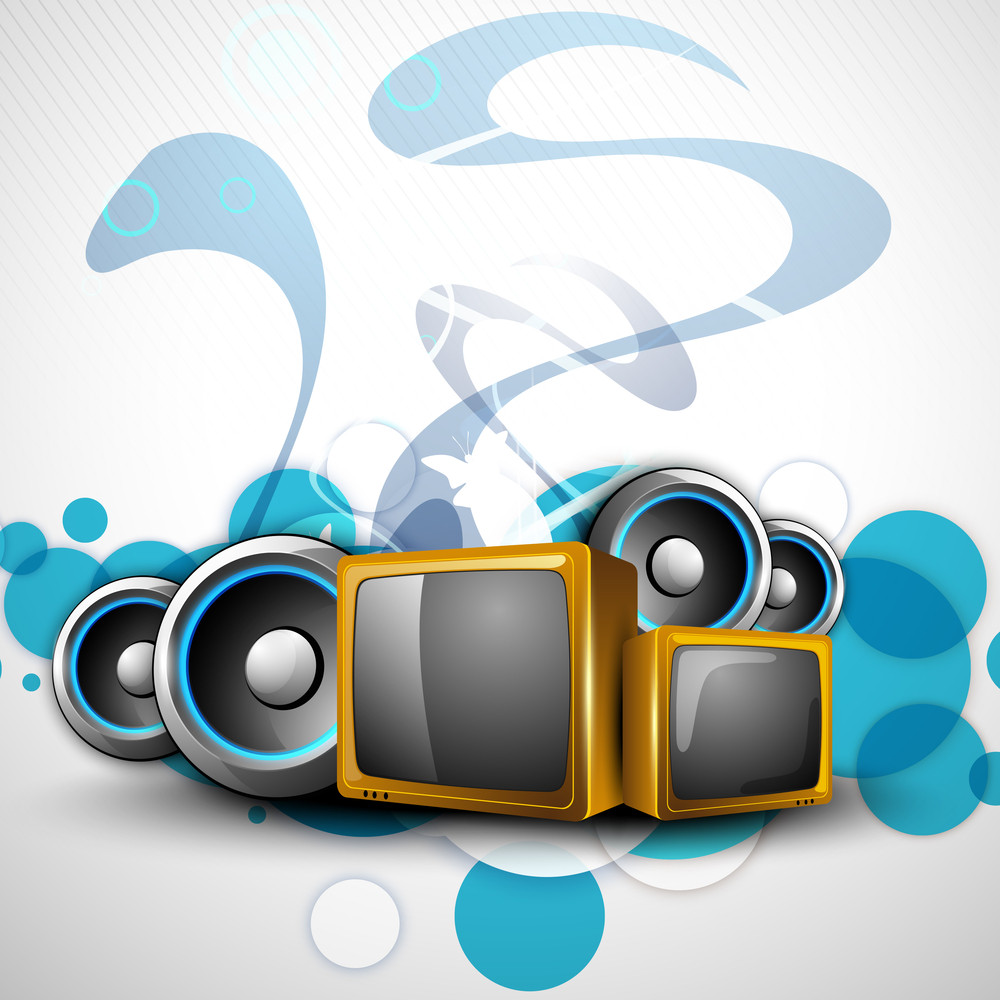 Creative Background With Entertainment Objects.