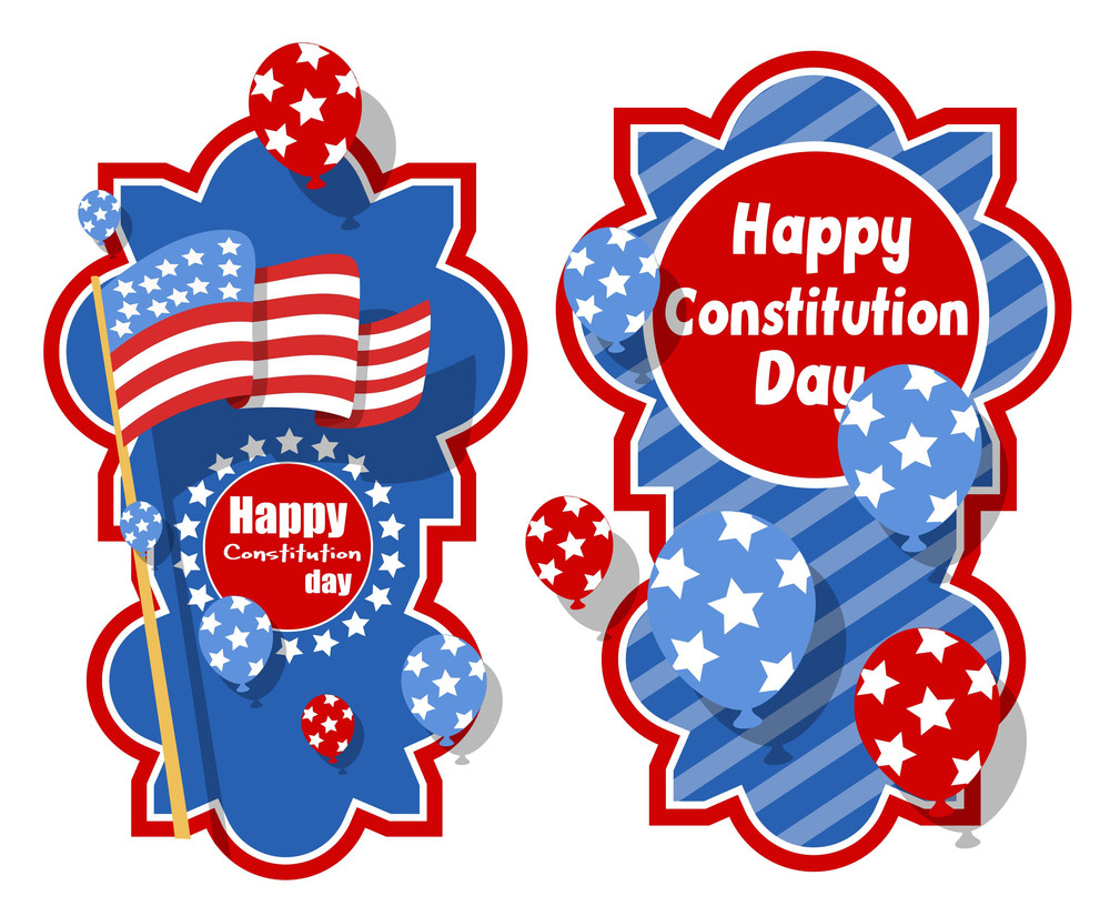Creative Banner Background  Constitution Day Vector Illustration