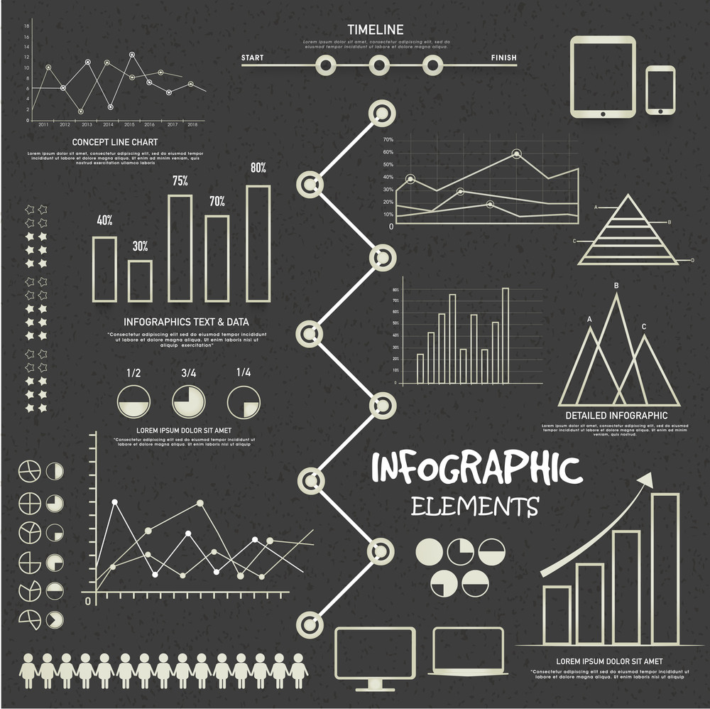 Creative Business Infographic template with various statistical graphs