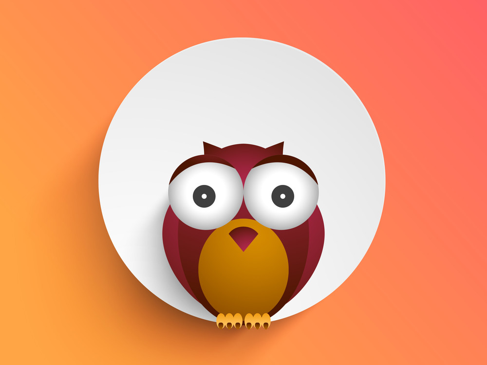 Creative Cartoon Design With Beautiful Owl.