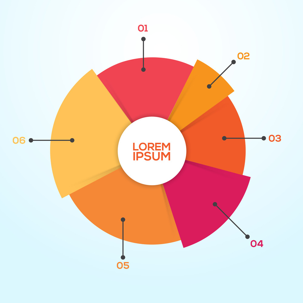 Creative colorful statistical pie chart for your professional data creative colorful statistical pie chart for your professional data and business reports presentations geenschuldenfo Image collections