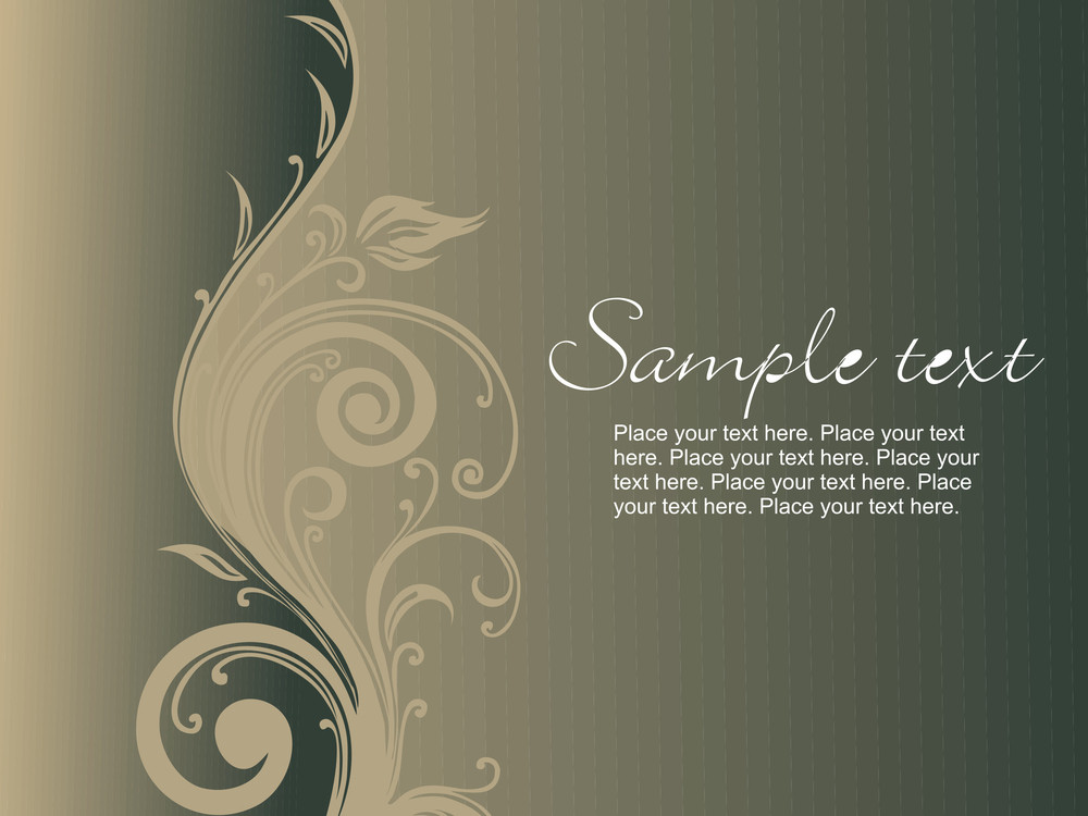 Creative Curves Pattern With Sample Text