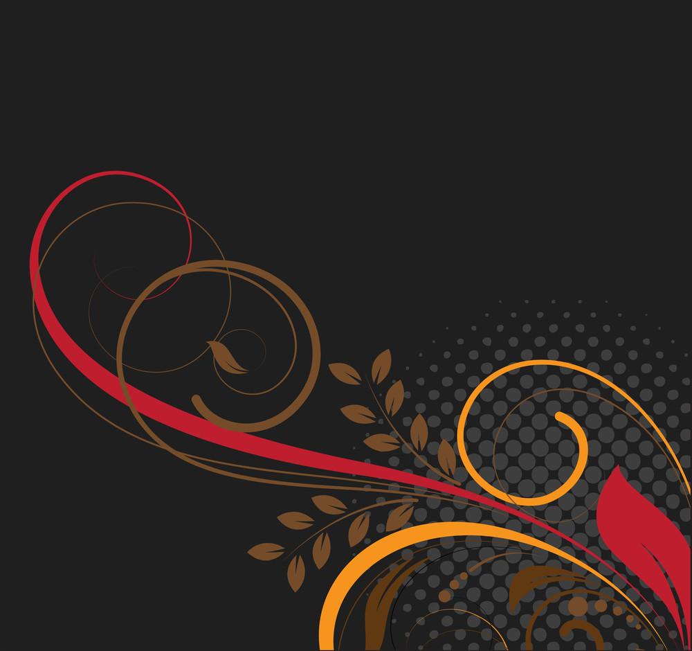 Creative Dark Swirly Background