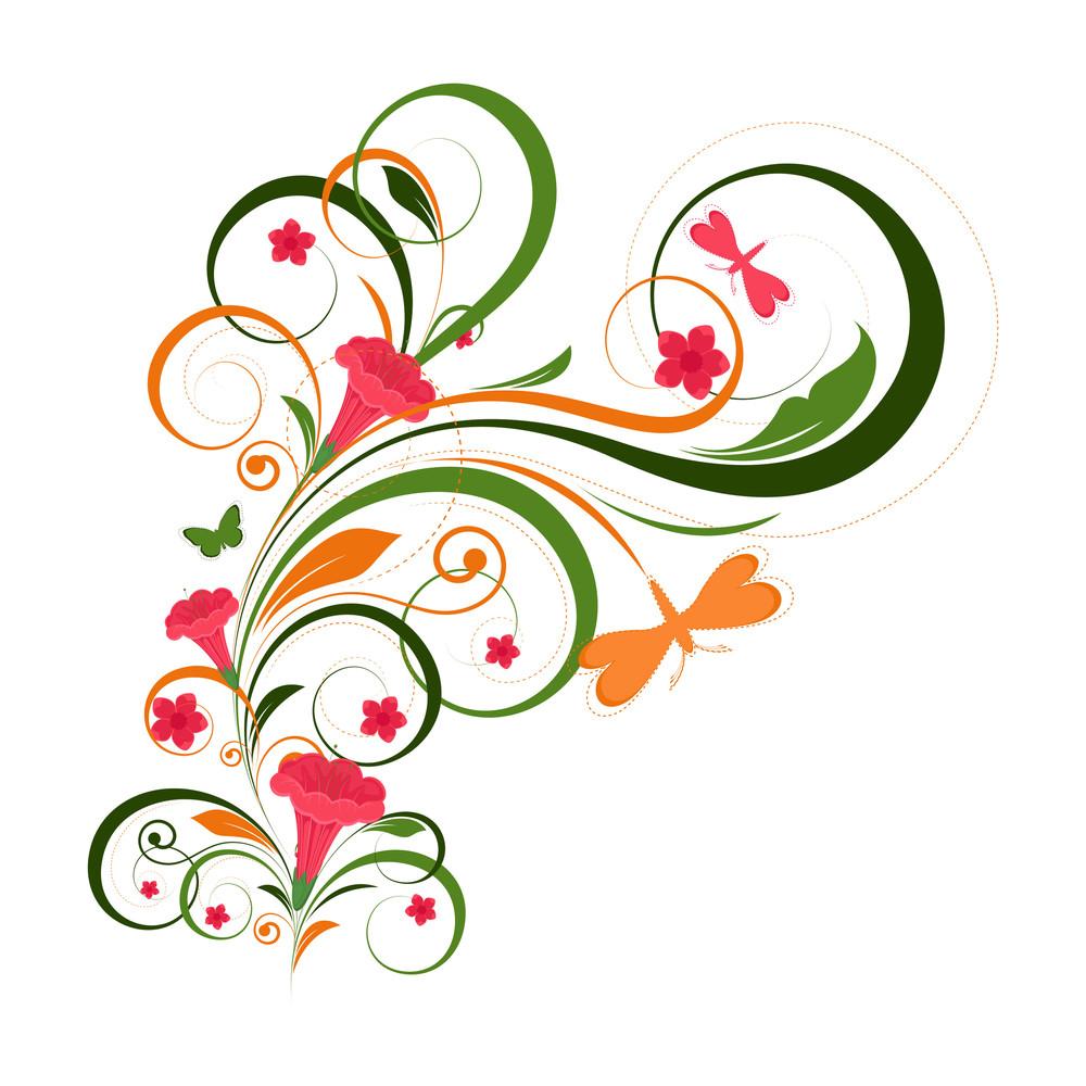Creative Design Floral Art Vector