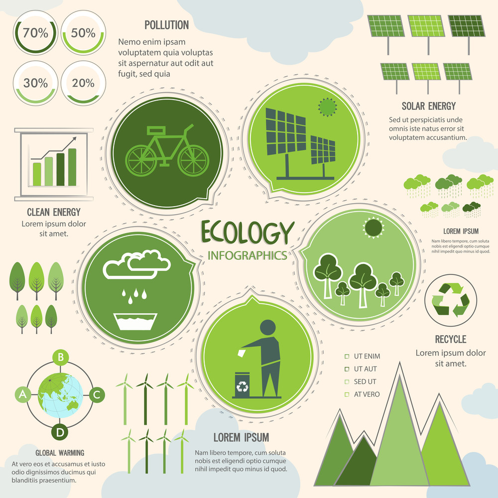 Creative Ecology Infographic Elements For Save Nature