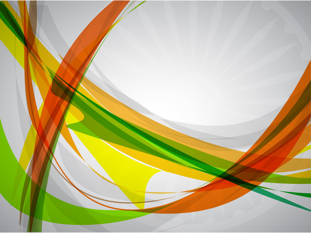 Creative Flag Color Background With Wave For Independence Day And Republic Day. Vector Illustration Eps10.
