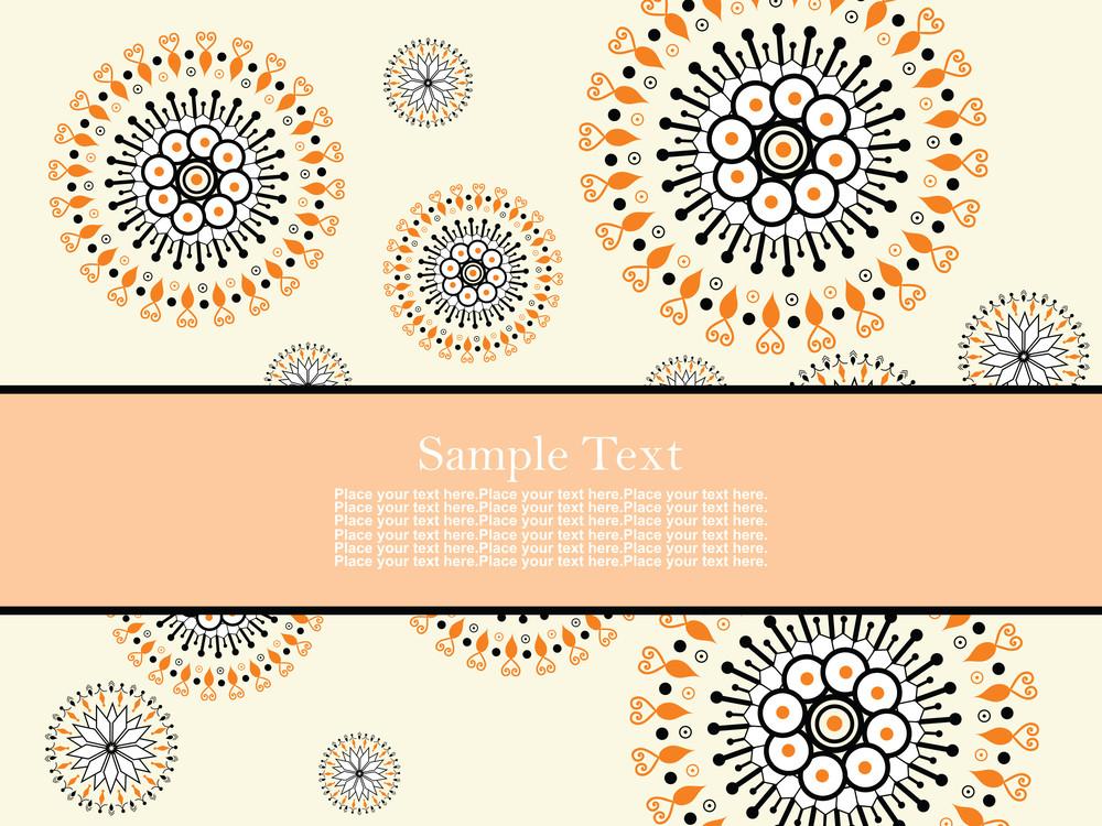 Creative Floral Design Background