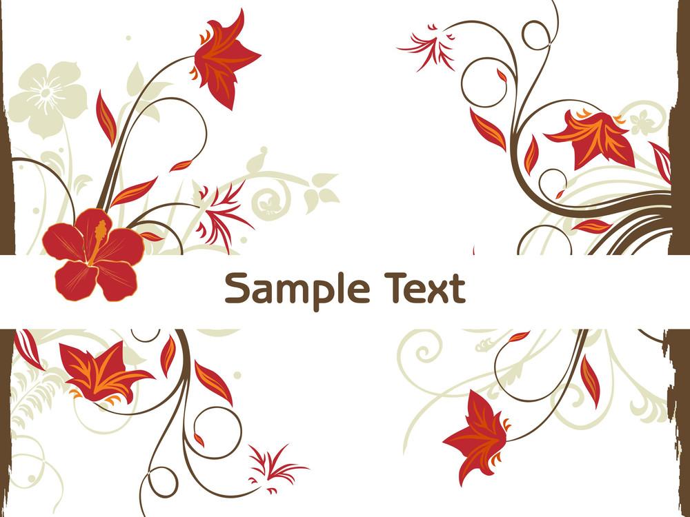 Creative Floral Design Illustration