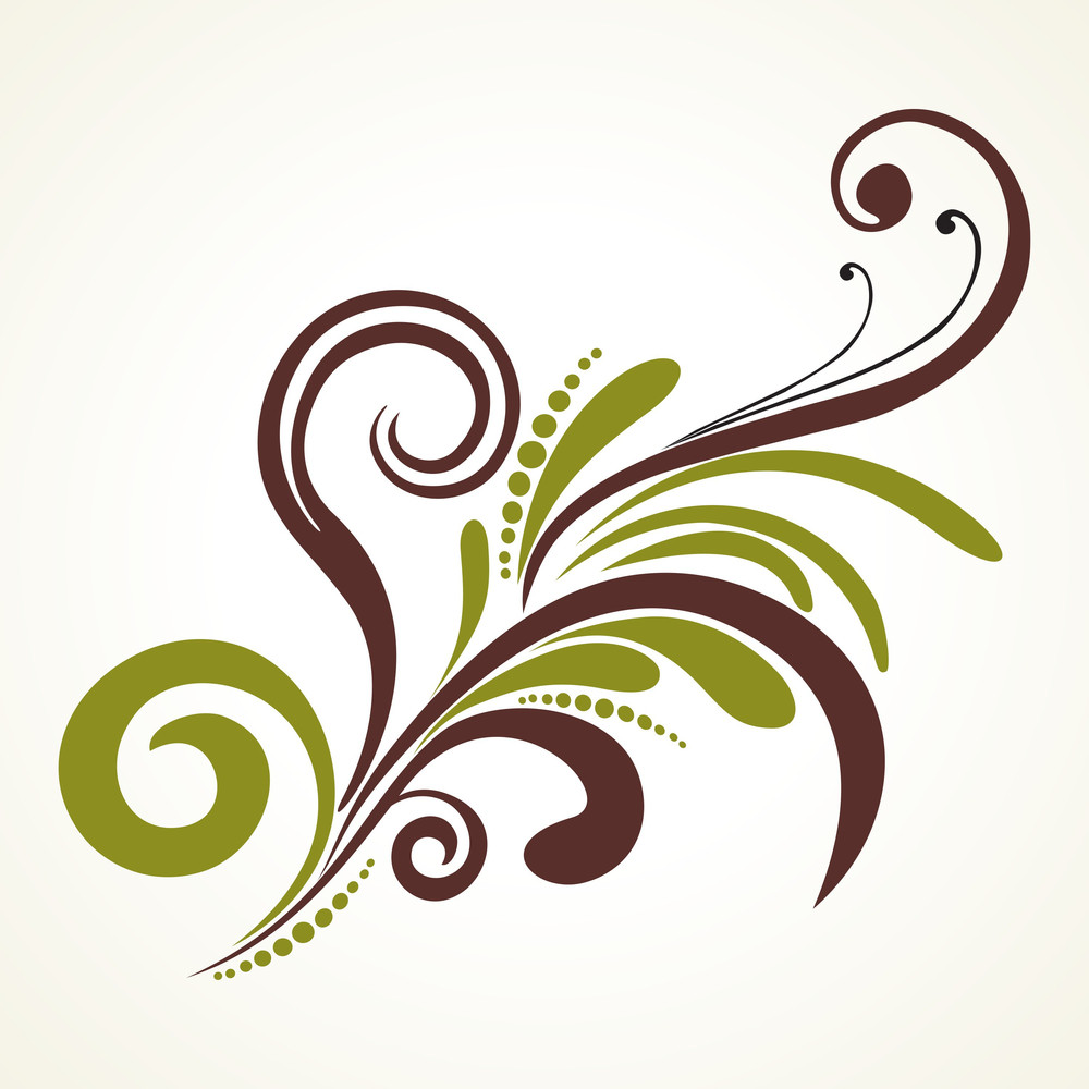 Creative Floral Pattern With Background