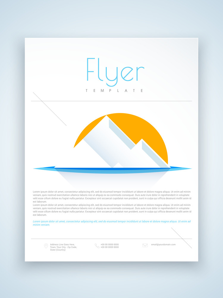 creative flyer template or brochure with abstract design for your
