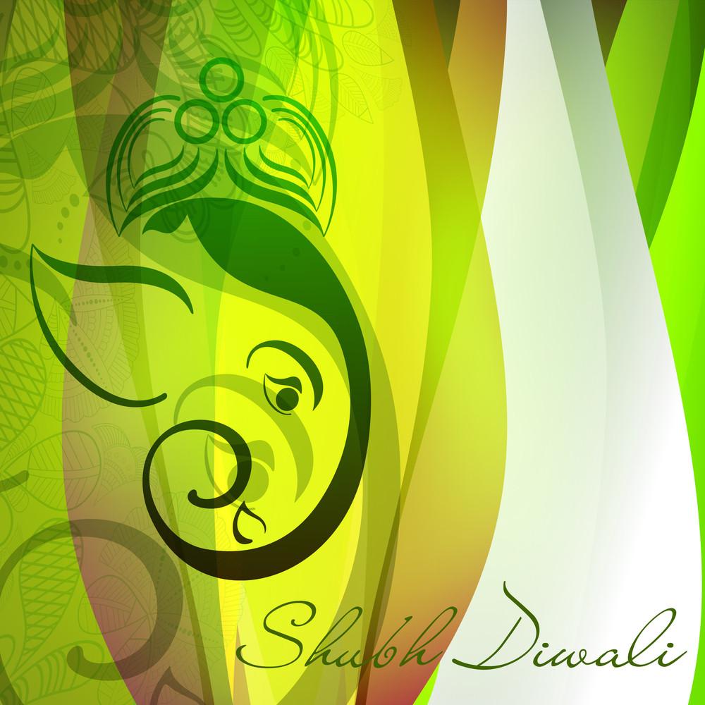 Kreative Illustration von Hindu Lord Ganesha auf buntem Hintergrund.
