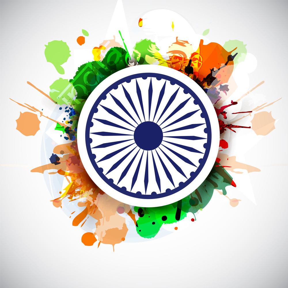Creative Indian Flag Background.