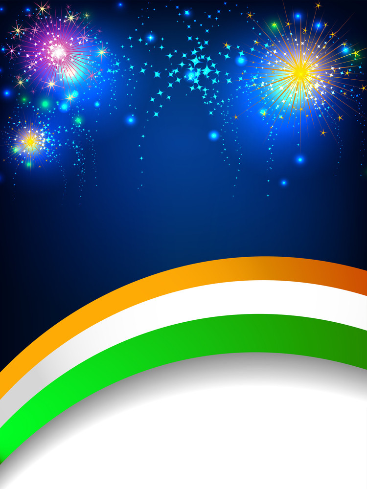 Creative Indian Flag Wave Background.