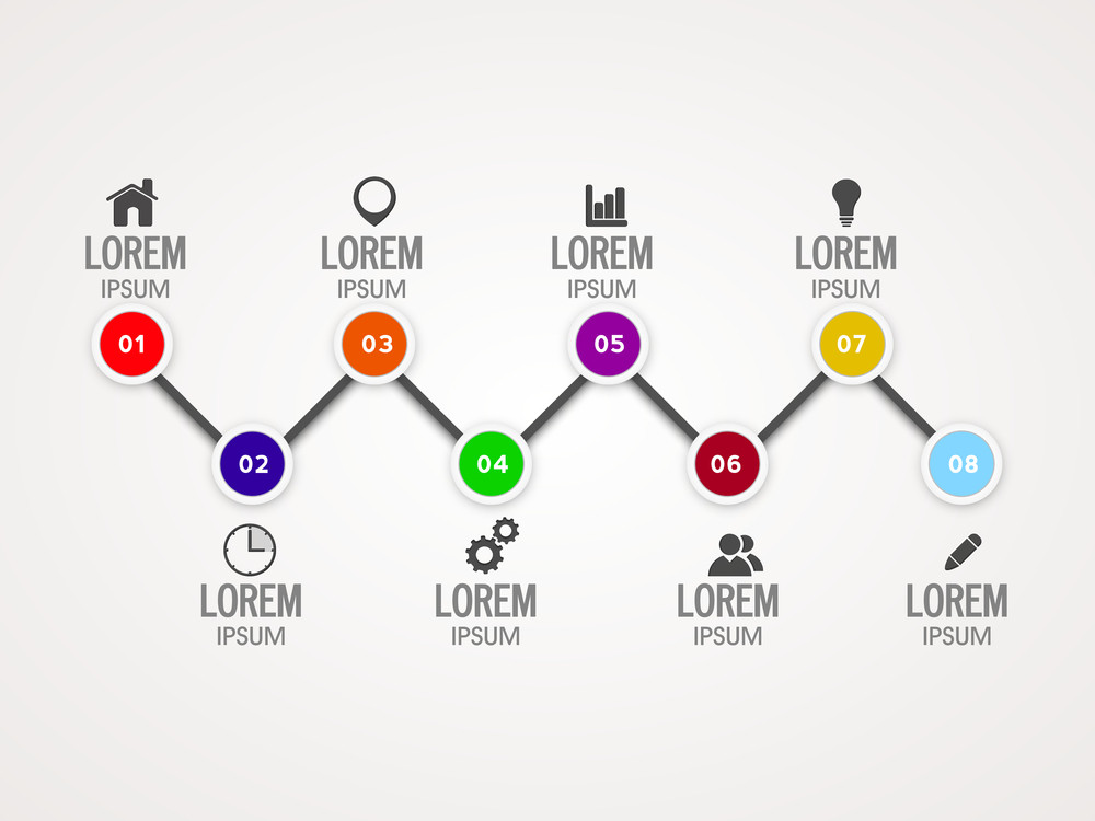 Creative Infographic Elements With Web Symbols For Business Purpose