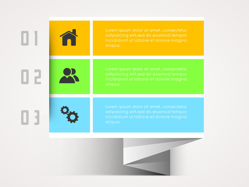 Creative infographic tag with web symbols for Business presentation.