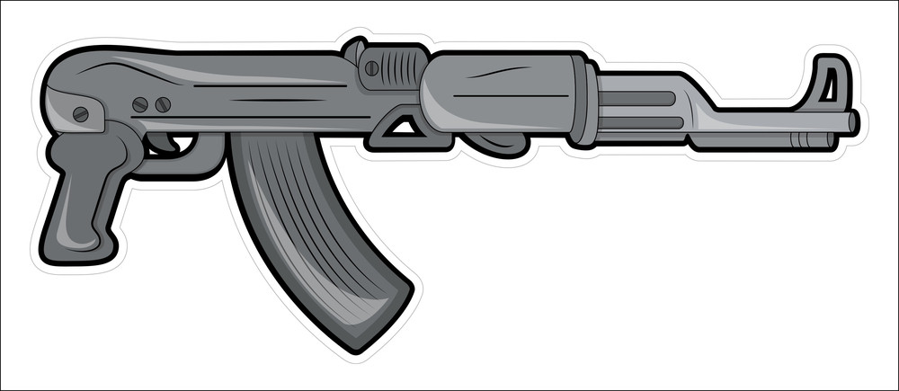 Creative Machine Gun Vector