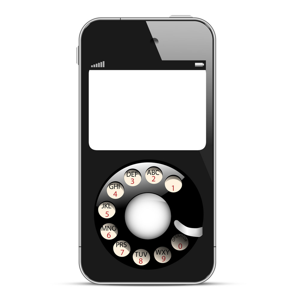 Creative Mobile Phone With Retro Disc Dials