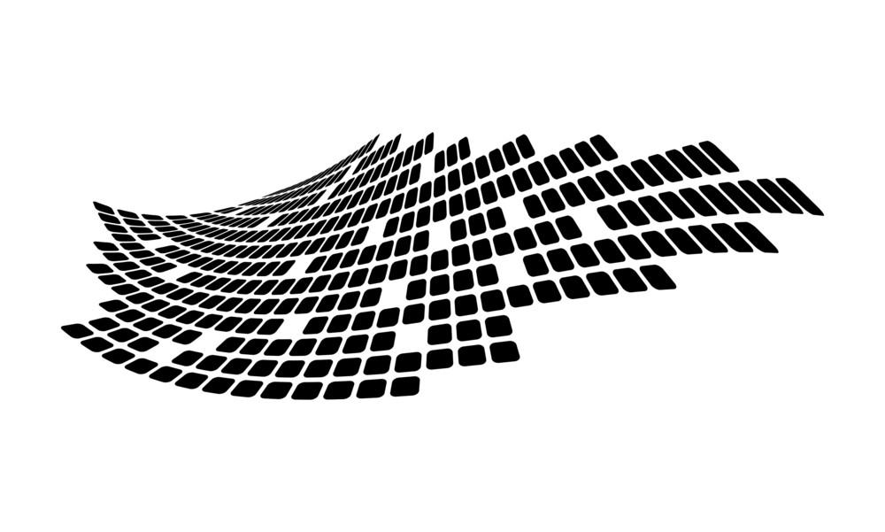 Creative Mosaic Graphic Wave
