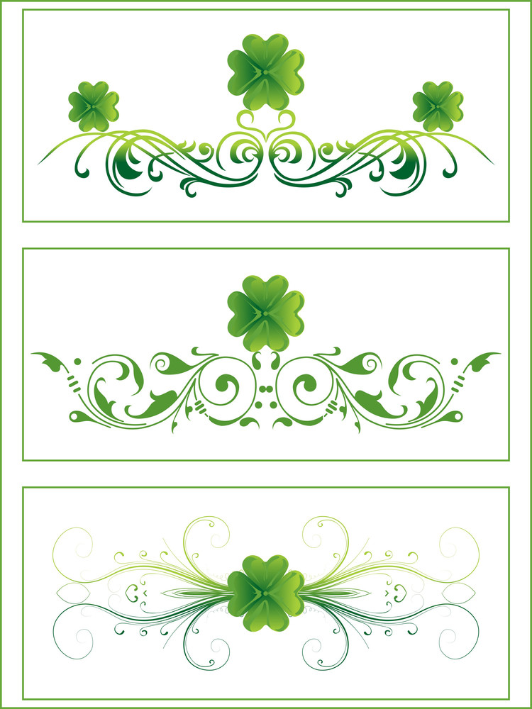 Creative Pattern Art With Shamrock Floral 17 March