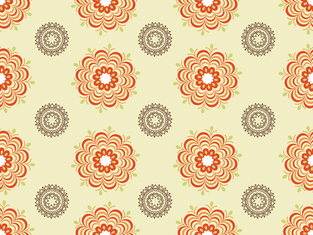 Creative Pattern Blossoms Illustration