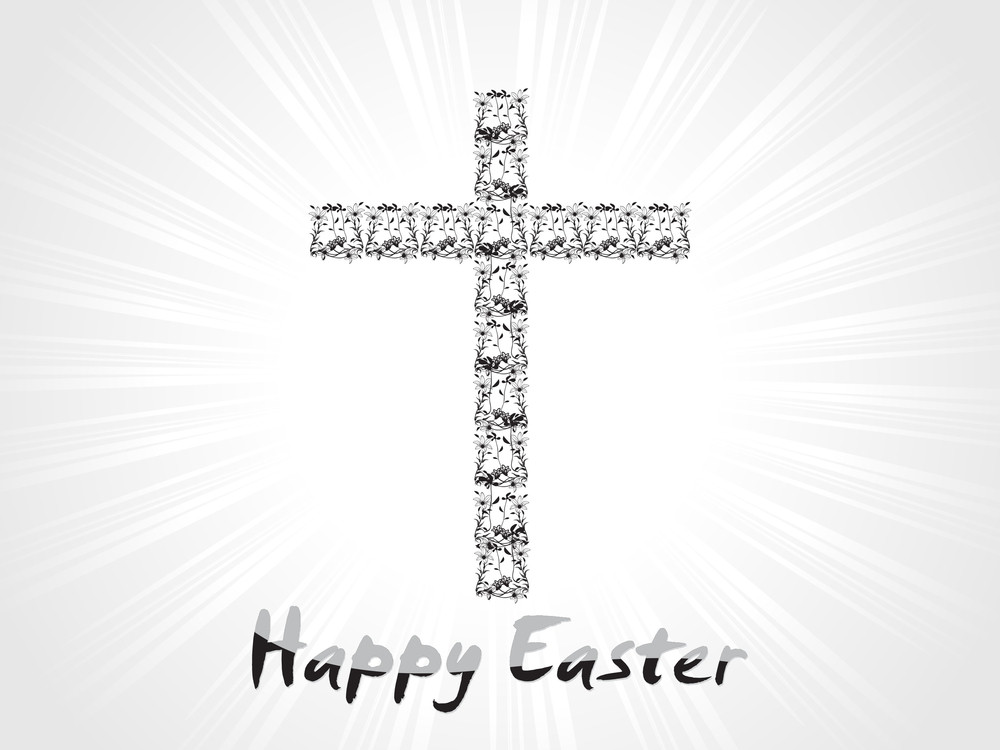 Creative Pattern Cross With Background