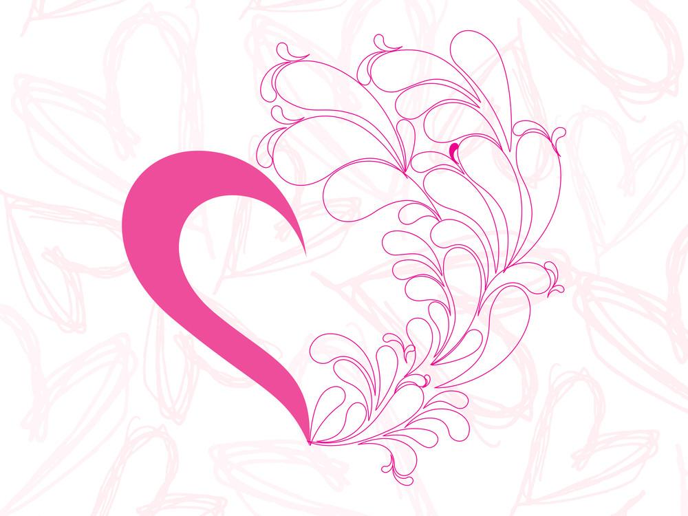 Creative Pink Heart Background