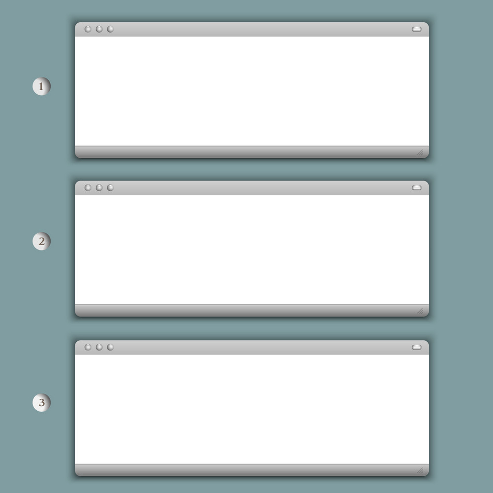 Creative Progress Background With Three Browser Windows